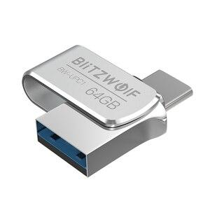 Image 3 - BlitzWolf BW UPC1 2 in 1 Type C USB 3.0 Aluminium Alloy 16GB 32GB 64GB OTG USB Flash Drive External Storage