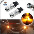 2pcs Amber Yellow 20W CRE'E 7443 7440 T20 Reflection Design LED For Turn Signal Lights, Daytime Running Lights, Driving Lights