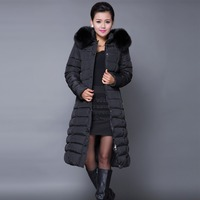 Winter Jacket Women 2015 Winter Coat Women Plus Size 5XL Long Parka Luxury Fur Cotton Padded