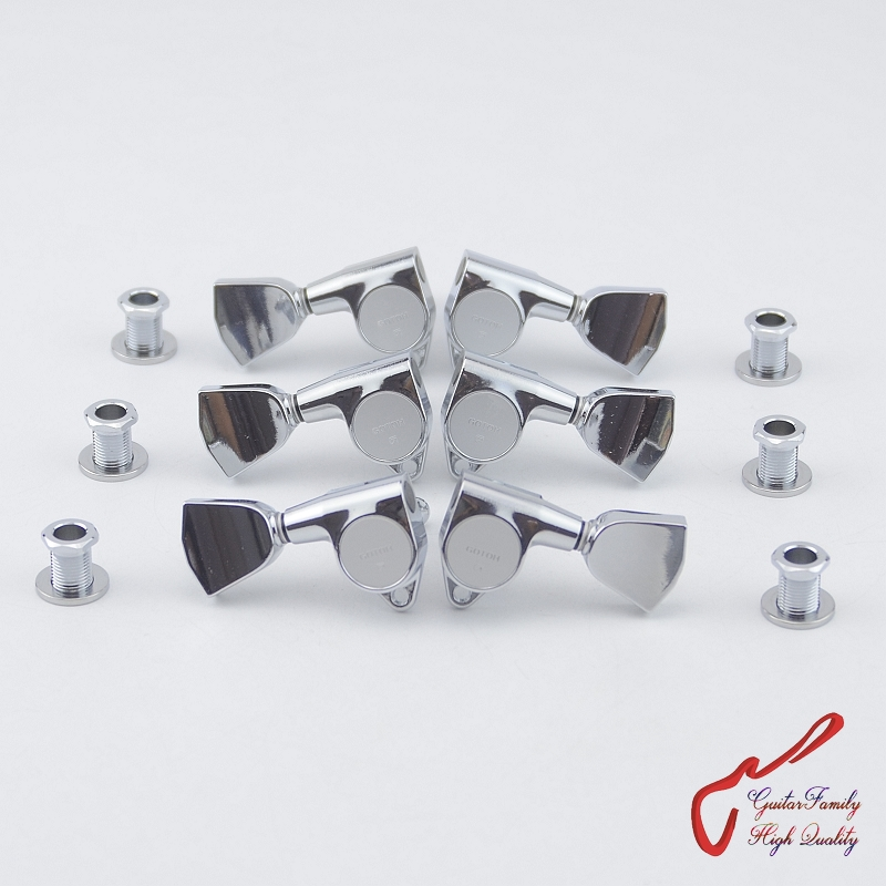 Original Genuine L3+R3 GOTOH SG301-04 Guitar Machine Heads Tuners ( Chrome ) MADE IN JAPAN цена