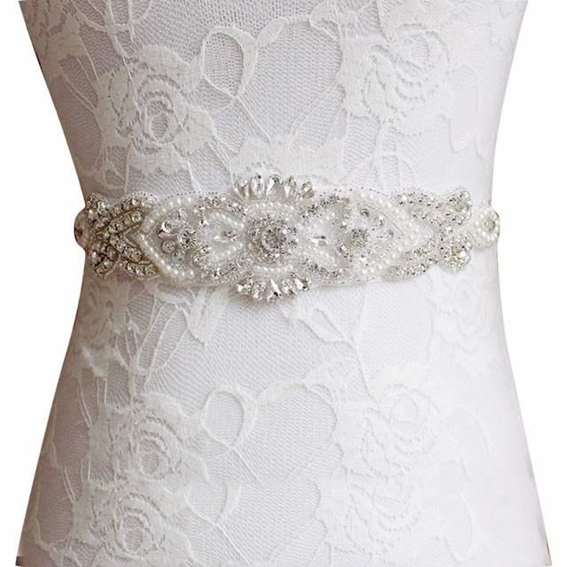 4094b51fa9 placeholder Women s Wedding Belts Rhinestone Wedding Dress Belt Wedding  Accessories Satin Ribbon Bridal Sash Party Gown Bride