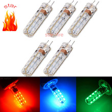 Color festive lightsG4 3W 32 SMD 3014 Led Bulbs Chandelier Crystallights 220v red/green/blue color Free Shipping 5pcs/lot