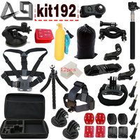 Gopro Accessories Set For Gopro 5 4 3 3 2 1EKEN H9R F60R W9R Xiaomi Yi