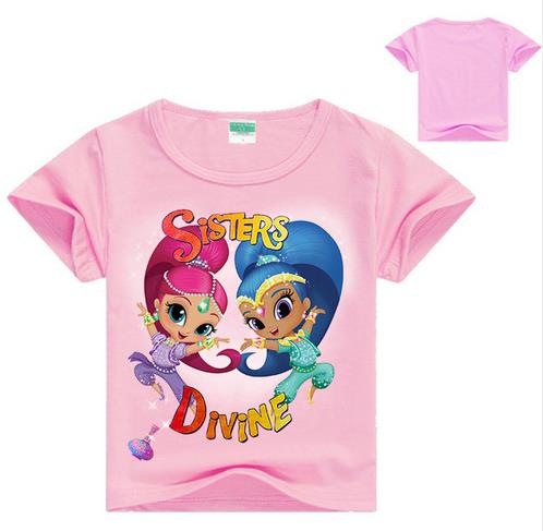 New Summer T-shirt For Girl Girls Tops Shirts For Girls Tees Shirt Children Clothes For Baby Sisters Print TOP quality!