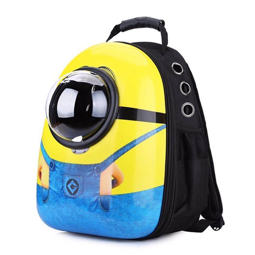 557424cd60 Minions Small Pet Backpack Carrier Cat Travel Bags Dog Shoulder Puppy  Mobile Airplane Carrier Car Seat Tote Cage Space Capsule