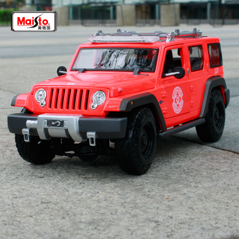 Maisto 1:18 JEEP Rescue Concept (SWAT) Police SUV Car Diecast Model Car Toy New In Box Free Shipping 36211 maisto 1 18 mini cooper sun roof diecast model car toy new in box free shipping 31656