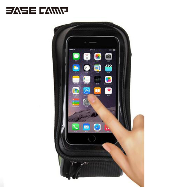 "BASECAMP Sport Mountain Bike Bicycle Bags Panniers For 4.8""5.5"" Phone Front Frame Road Cycling Accessories Bolsa Bicicleta"