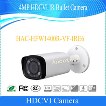 Free Shipping DAHUA Security Camera CCTV 4MP HDCVI IR Bullet Digital Video Camera IP67 without Logo HAC-HFW1400R-VF-IRE6