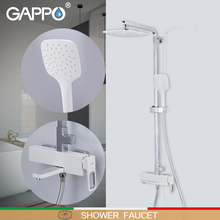 GAPPO מקלחת ברזי קיר רכוב אמבטיה מיקסר ברז מקלחת מפל גשם חדר רחצה מקלחת סט אמבטיה אמבטיה ברז גריפו ducha