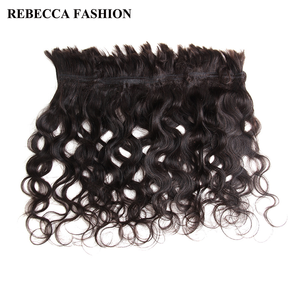 Rebecca Human Bulk Hair For Braiding 4 Pcs/Lot Natural Color Body Wave Remy Brazilian Braiding Human Hair Bulk Free Shipping