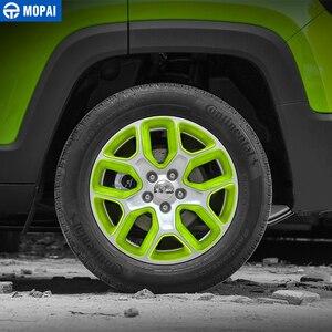 Image 5 - MOPAI Cubierta del Centro de volante para coche, cubierta de decoración, marco de pegatinas ABS para Jeep Renegade 2013 2018, accesorios exteriores, estilo de coche