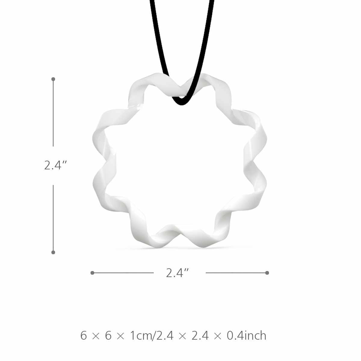 Tooarts 3D Printed Jewelry Rhythm Elegant Modeling Pendant Jewelry Necklace Accessories For Lady