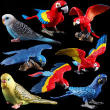 2019 NEW Plastic Simulated Solid Parrot Models Emulation Action Anime Figure Educational Kids Toys Gift for Children .