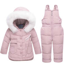 2018 Winter Children's Clothing Set Baby Girl Winter Jumpsuit Down Jacket for Girls Boys Coat Clothes Thicken Ski Snow Suit(China)