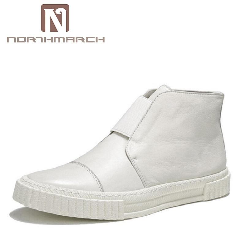 Zapatos Sólidos A Northmarch Hombres Sapatenis Top Invierno Blancos Negro High De Hecho blanco Zapatillas Pisos Shoes Classic Mano Alta Casual Calidad YaArx0Y