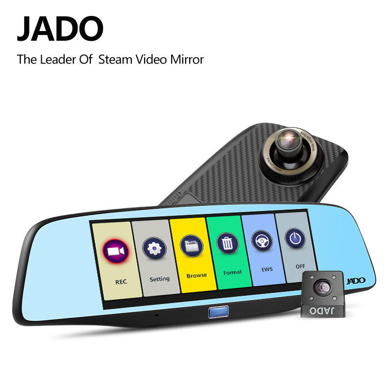 JADO D680S Rearview Mirror Car Dvrs ADAS 6.86 IPS Screen Full HD 1080P Car Dvr Video Recorder Dash cam Registrar цена 2017