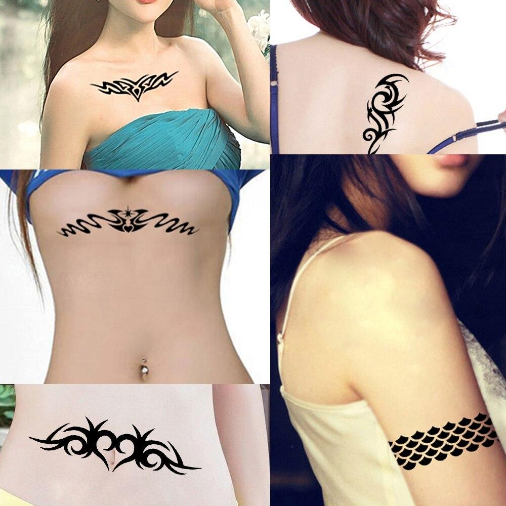 1 Piece Indian Henna Tattoo Stencil Strip Decorative Pattern Design Women Leg Body Art DIY Airbrush Painting Tattoo Stencil S616