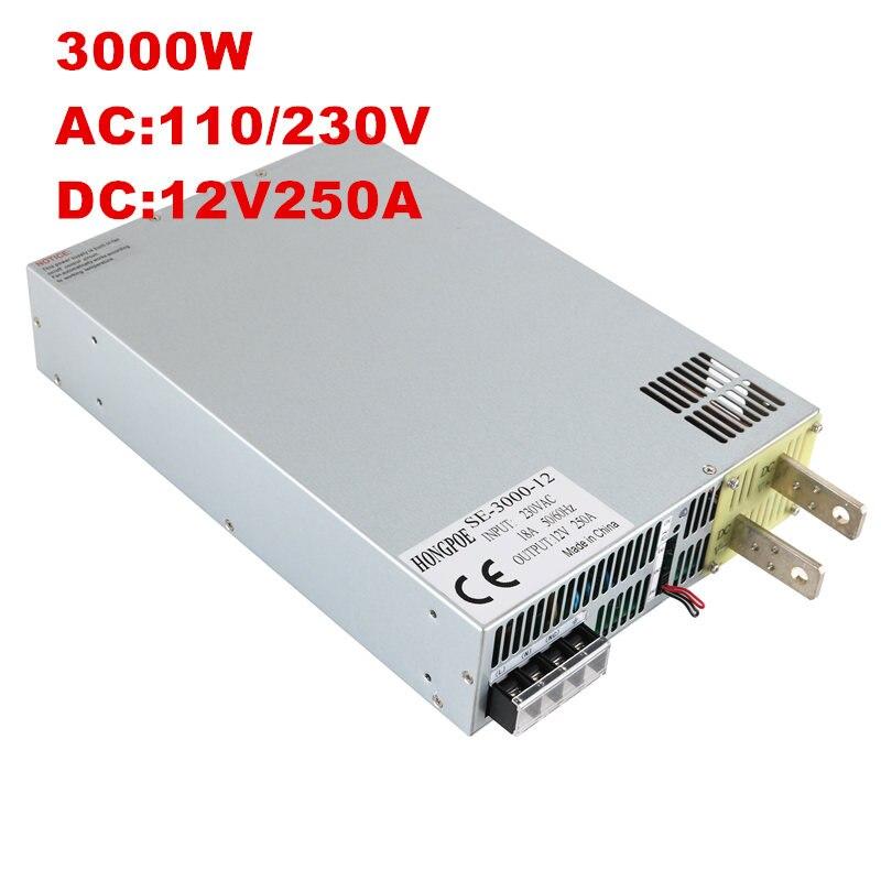 NWE 3000 W alimentation DC150V 200 V 250 V 300 V 350 V 3000 V 220 W AC-DC 0-5 V contrôle du Signal analogique 3000 V transformateur de puissance W