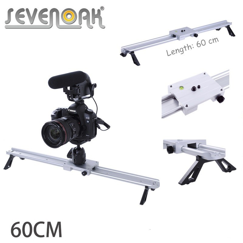 SevenOak 60cm/24 Video Track Dolly Camera Slider Stabilizer System Aluminum Alloy for Canon Nikon Sony DSLR Cameras Camcorders кукла moxie эйвери с плавающим дельфином