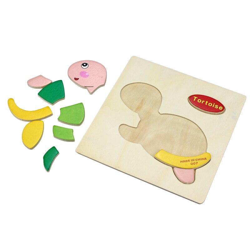 Uşaq Oyuncaqları Şirin Cizgi Heyvanlar Taxta Puzzle Uşaqlar - Bulmacalar - Fotoqrafiya 6
