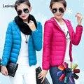 2016 Nova Designer de Inverno Mulheres Jaqueta de Pato Branco Para Baixo Branco Ultra Fino Parka Neve Jaqueta de Pato Para Baixo As Mulheres para a Menina jaqueta