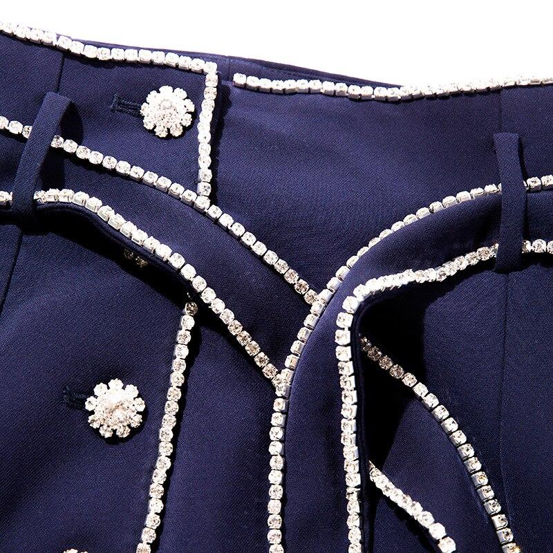 Haute Célébrité Diamants Piste Boutons Superbe Taille Jupe Mince Bling Rue Droite Perles Style La De Conception zxrEtxqT