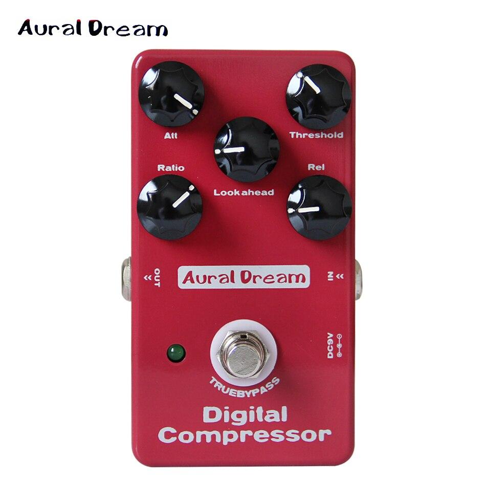 Aural Dream Digital Effect Pedal Digital Compressor Five knobs of Digital Compressor guitar pedal kaish 10pcs ivory guitar scalloped edge davies 1900h style amp knob effect pedal knobs