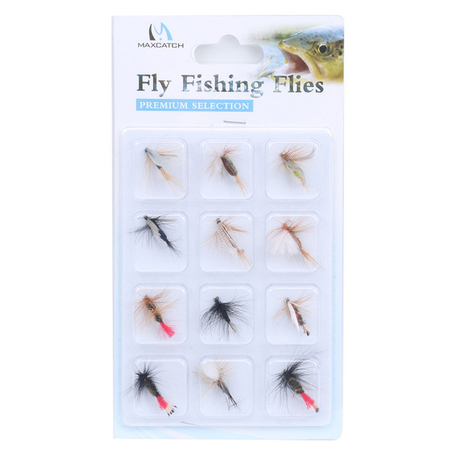 lowest price 12pcs Quality fly fishing flies hook multi-color fly flies on sale