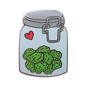 Image 1 - Nug Jar Weed Lapel pin badge