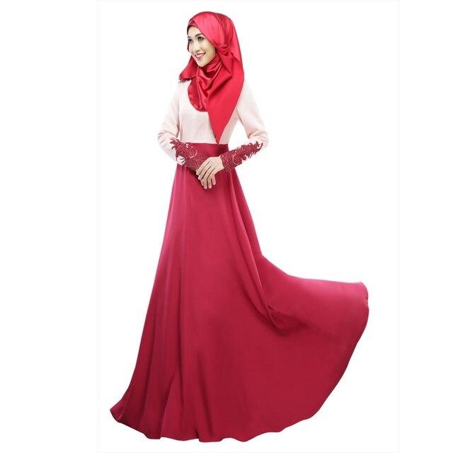 Винтаж Кафтан Абая Джилбаба Исламская Мусульманские Женщины С Длинным Рукавом Maxi Dress Ml Горячей Продажи