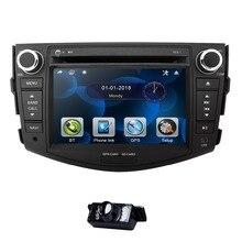 7-дюймовый dvd-плеер автомобиля для Toyota RAV 4 RAV4 2006-2012 2 Din стерео gps навигации Аудио Радио зеркало рулевое колесо CD BT