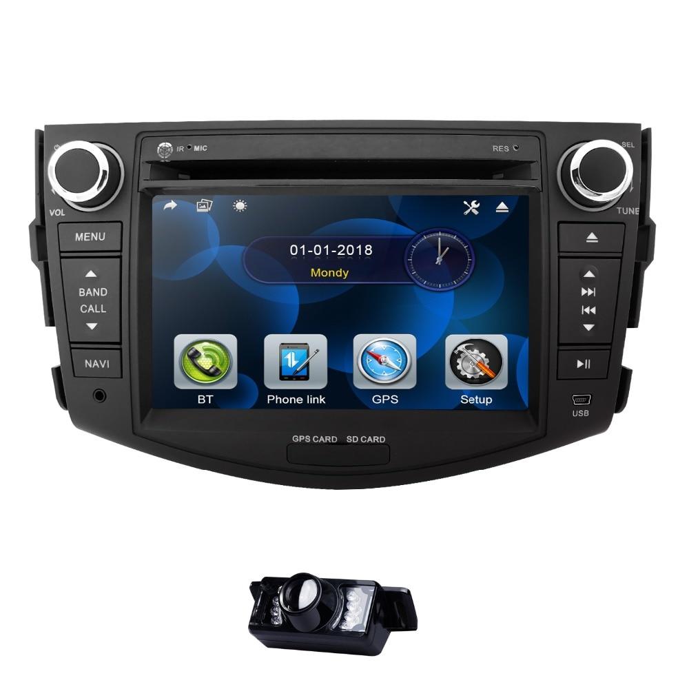 Lecteur DVD de voiture 7 pouces pour Toyota RAV 4 RAV4 2006-2012 2 Din voiture stéréo GPS Navigation Audio Radio miroir volant CD BT