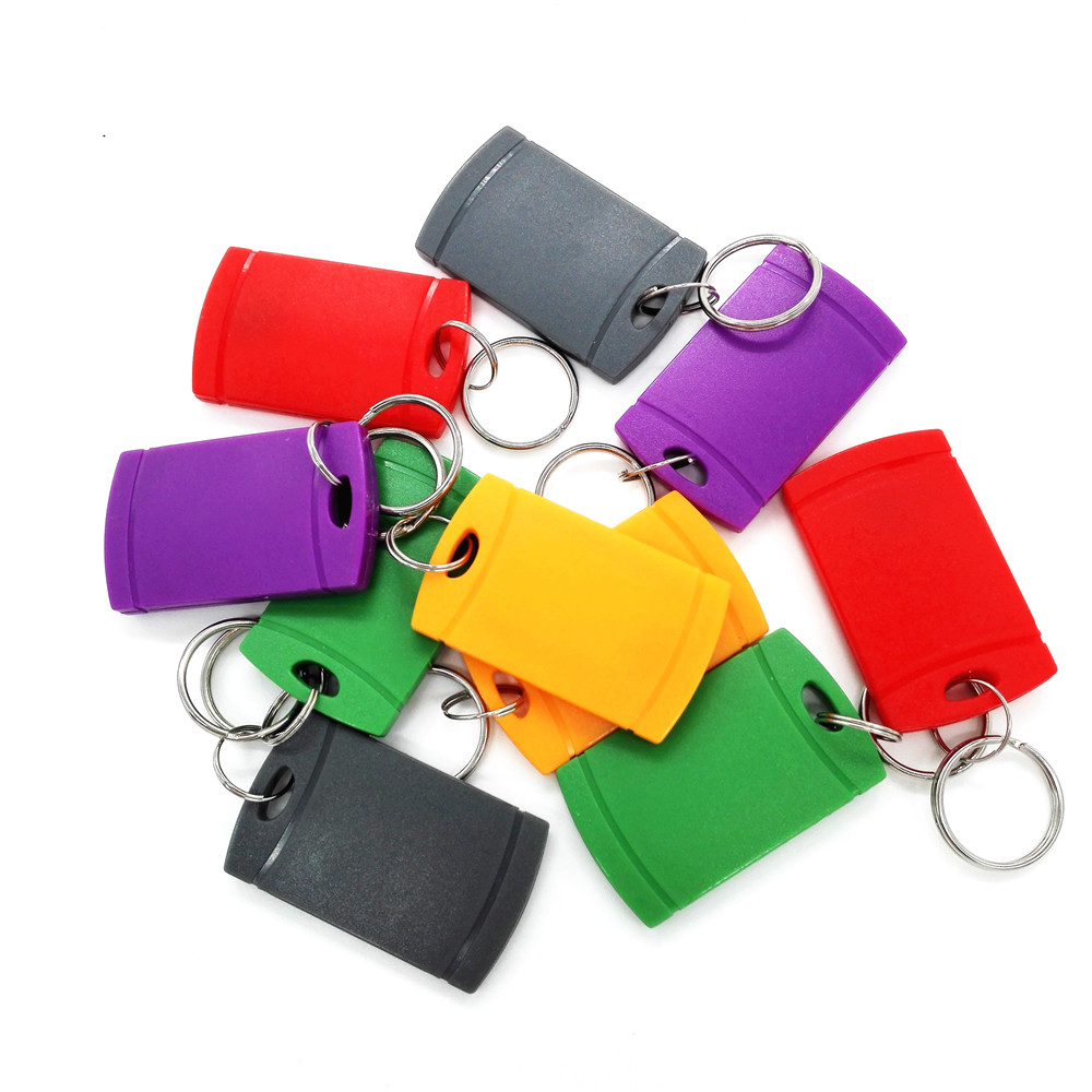 10pcs/lot,Multicolor UID Blank Key Chain Elevator Parking Entrance Guard Access Control IC card 13.56MHZ Key Tags Key Chain