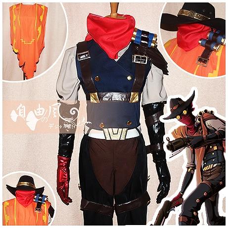 Free Shipping Lol High Noon Jhin Cosplay Costume Halloween Uniform