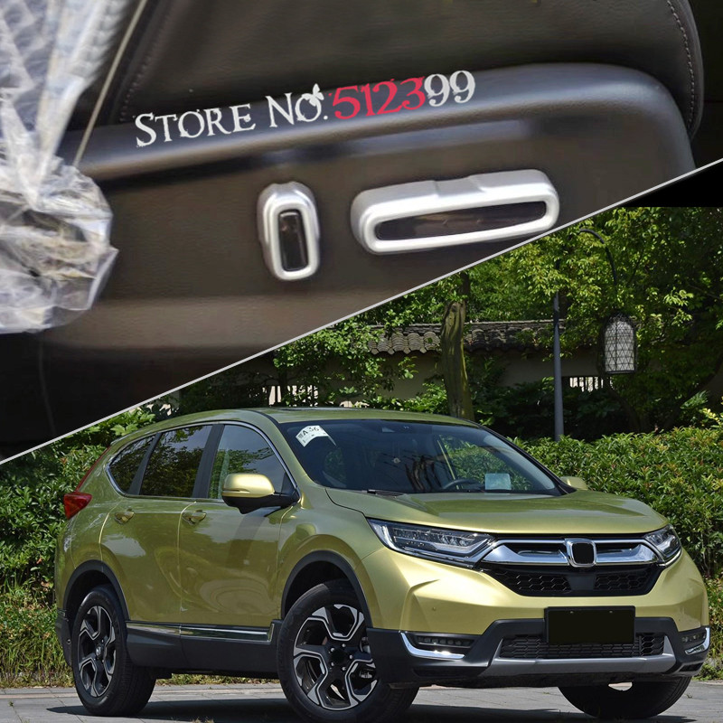 4* ABS Matte Door <font><b>Seat</b></font> Adjust Buttons Cover Decorative Trim for Honda <font><b>CRV</b></font> CR-V 2017 2018 Car accessories Styling