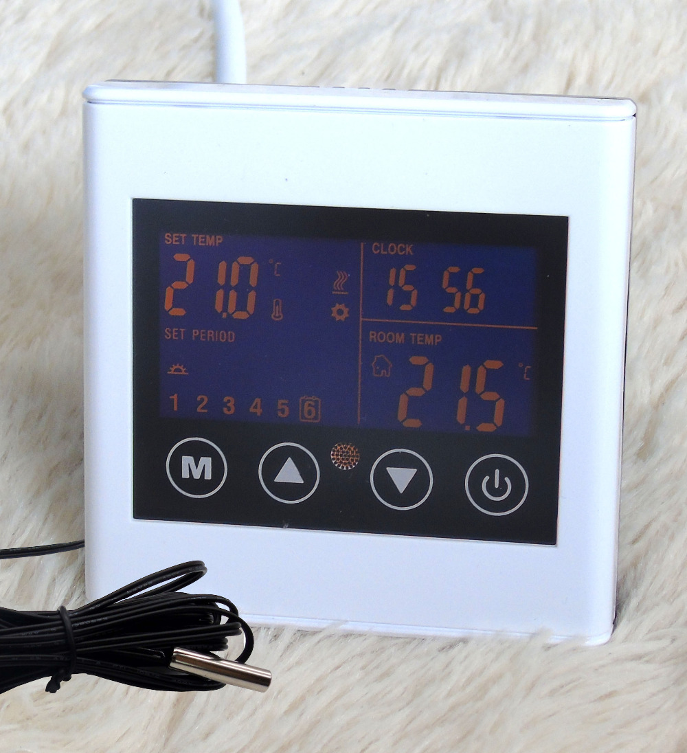 7 days programmable Smart Home Double sensor Overheating protection Thermostat with Touch Screen tasso taisuo xmt 6000 smart table xmtd 6501 thermostat