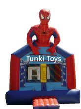 inflatable spider man jumping bouncer