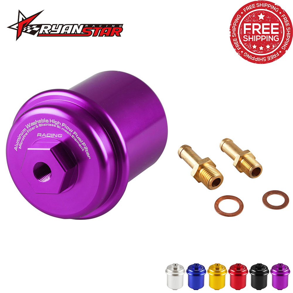 Free Shipping Car Sport High Flow Fuel Filter Performance