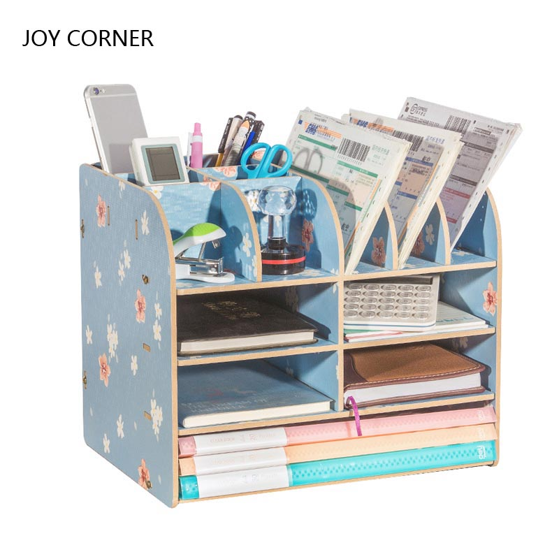 Paper Storage Trays Desk Organizer Tray Desktop Magazine Holder Book Display Stand School Desk Accessories JOY CORNER STORE 2018 clear acrylic a3a4a5a6 sign display paper card label advertising holders horizontal t stands by magnet sucked on desktop 2pcs
