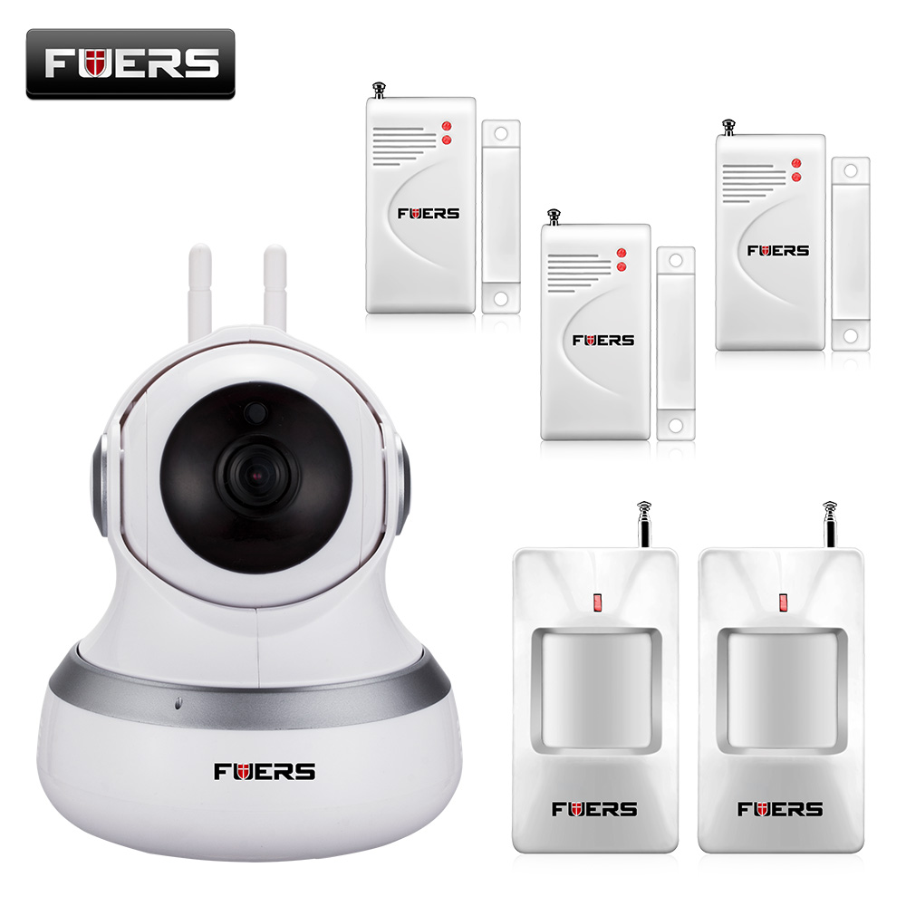 Newest Fuers Wireless WIFI IP Camera 720P HD Cloud Storage PIR Night Vision P2P Security Monitor Camera Surveillance Camera et16 intelligente scanner portatile con 34 lingue ocr e wifi connect per czur cloud storage