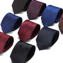 Men Tie Black Blue Polka Dot Fashion Classical 7.5cm Slim Skinny Polyester Ties Narrow Silk Groom Wedding Party Business Necktie fashion slim tie narrow necktie black