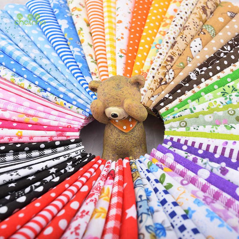 Chainho, 60 шт./лот, цветная однотонная хлопковая ткань для лоскутного шитья и шитья, толстые четвертинки пачка ткани тела материал,