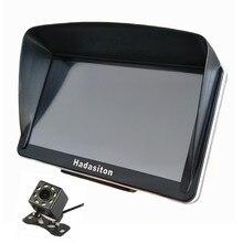 """Автомобильный gps навигатор """" сенсорный экран Sat nav 256 M/8G Bluetooth AV-IN с солнцезащитным козырьком+ Бесплатные карты, беспроводная камера заднего вида на выбор"""