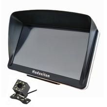 """AV IN بلوتوث مع مظلة + خرائط مجانية ، كاميرا رؤية خلفية لاسلكية اختيارية الملاحة في السيارة 7 """"شاشة تعمل باللمس سات ملاحة 256 M/8G"""