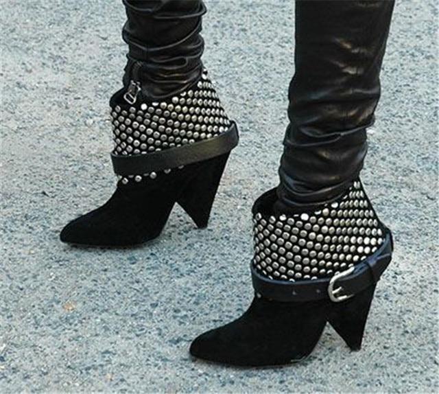 Woman Cool Rivets Embellished Slip