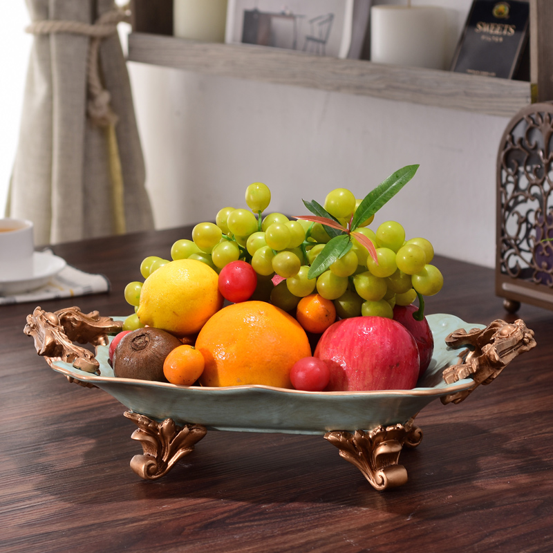 American Ceramic Large Fruit Dish Room European Style Coffee Table
