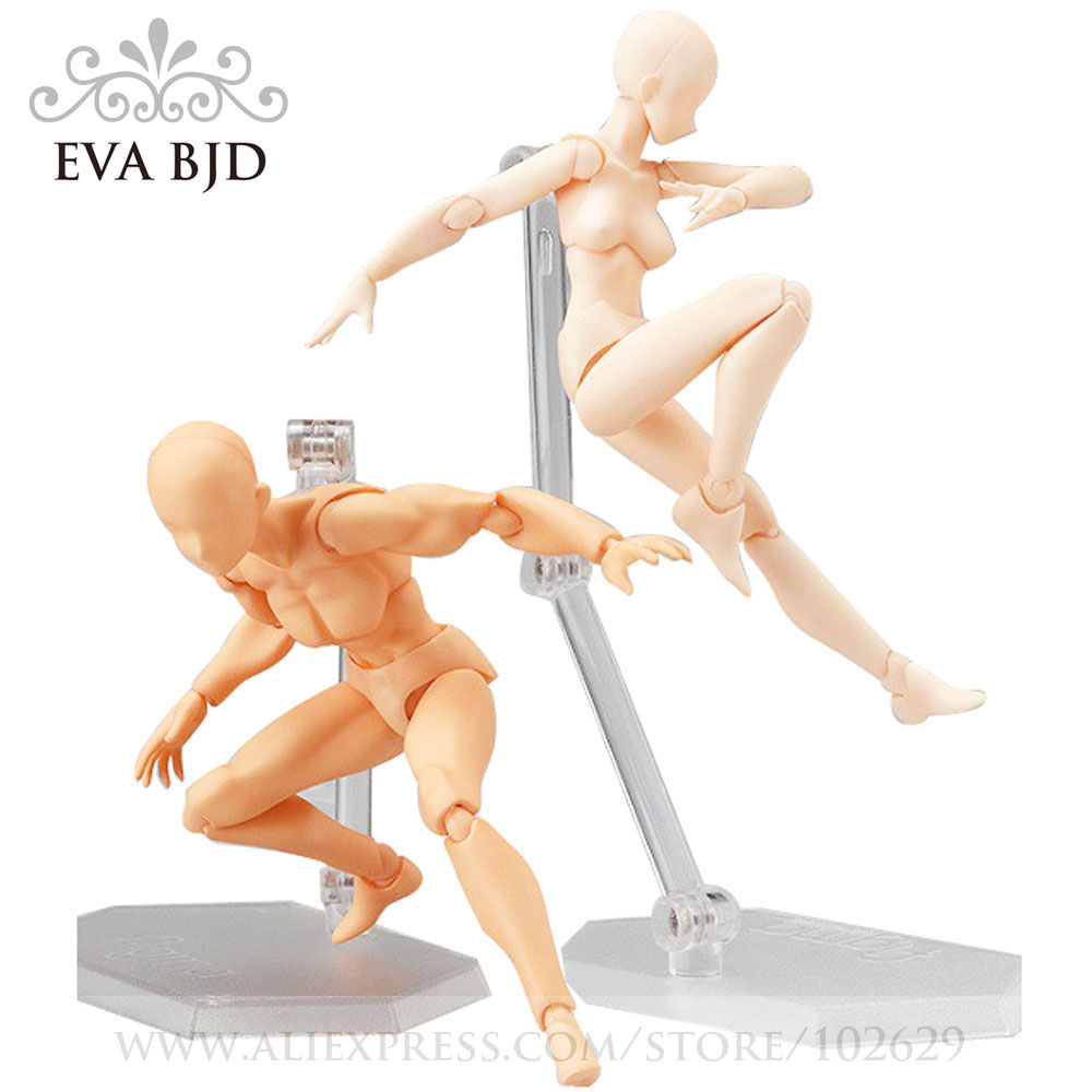 1/12 12cm EVA BJD body art model PVC Action Figure Collectible Model figurine Mannequin Sketch Draw hot for kids Children 2017 anime body kun body chan movable action figure model toys anime mannequin bjd art sketch draw collectible model toy
