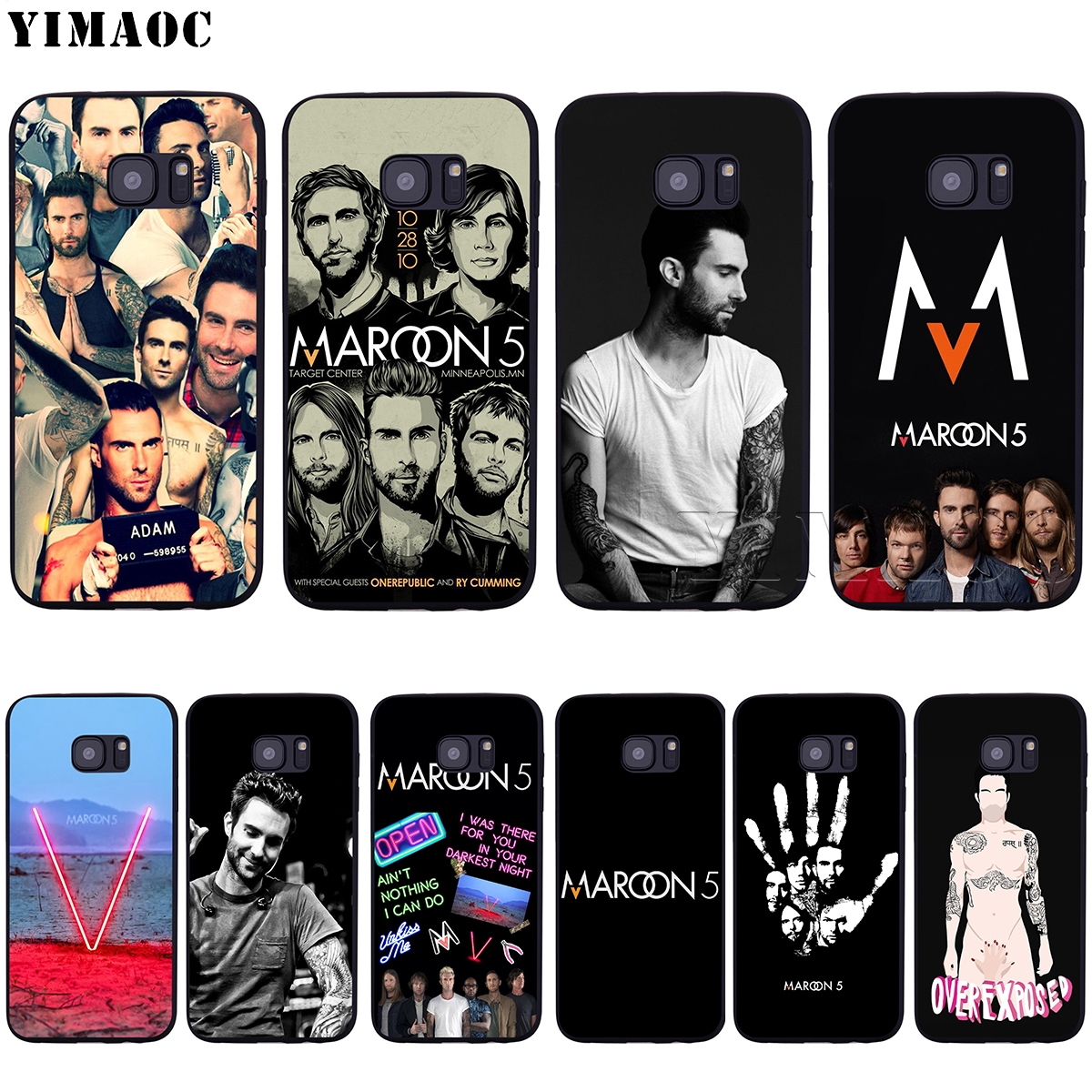 YIMAOC Maroon 5 Adam Levine Soft Silicone Case for Samsung Galaxy S6 S7 Edge S8 S9 Plus A3 A5 2016 2017