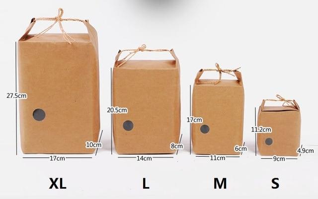 4c48d9dac 100pcs \ lote bolsa de papel Kraft bolsa de regalo bolsas de alimentos  galletas de nuez
