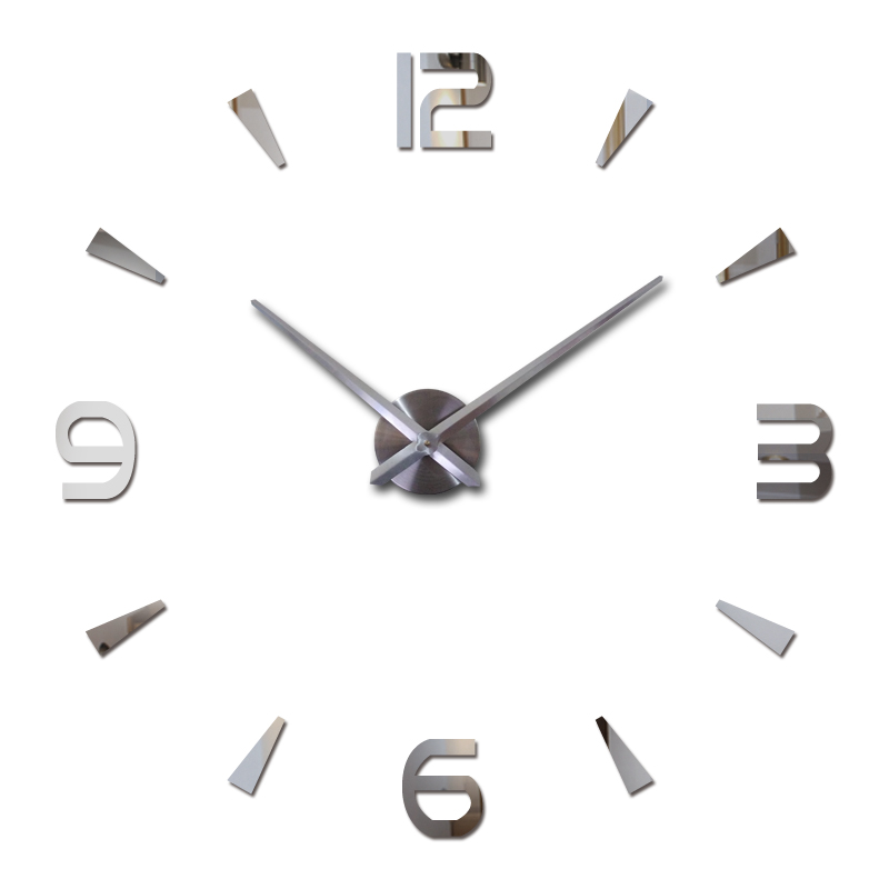 High-end atmosphere Corridor wall stickers home decoration mirror effect Brief style still life diy quartz wall clock(China)